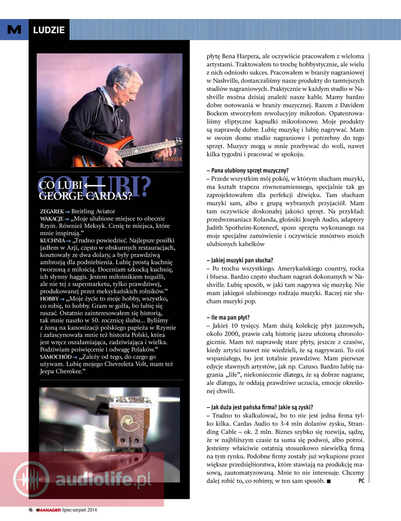 George Cardas - wywiad