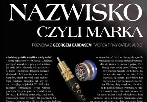 George Cardas - wywiad dla magazynu Manager 1