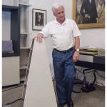 Manuel Huber przy kolumnie FM Acoustics XS II